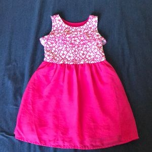 Girls pink lace dress